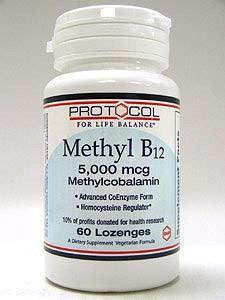 Methyl B12 5000 mcg 60 loz by Protocol For Life Balance
