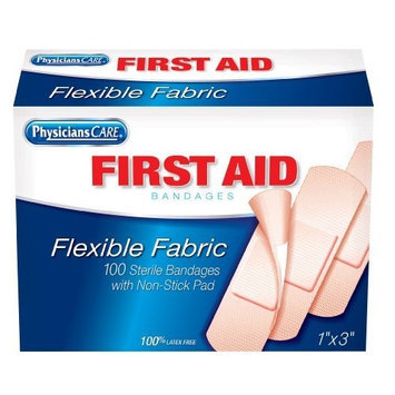 PhysiciansCare First Aid Fabric Bandages, Box of 100, 1