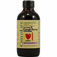 Childlife Formula 3 Cough Syrup Natural Berry 4 fl oz