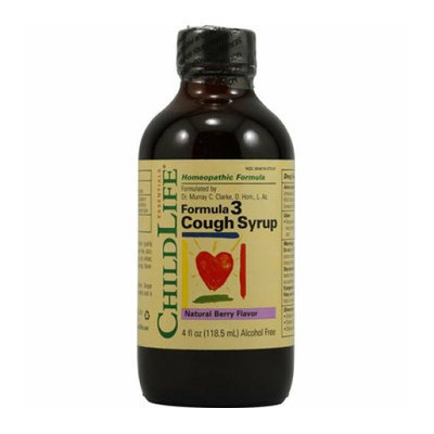 Childlife Formula 3 Cough Syrup Natural Berry 4 fl oz