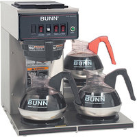 Bunn BUNN 12950. 0112 12 Cup Coffee Brewer with Lower Warmers CWT15 Plastic Funnel