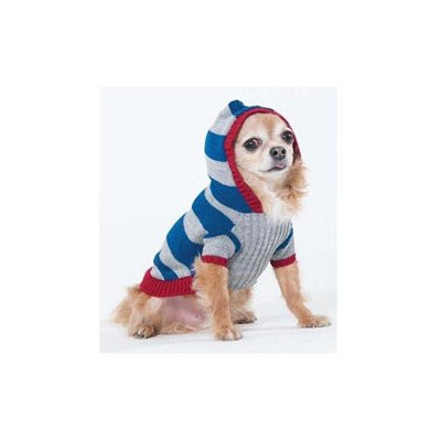 Ethical Collegiate Striped Dog Sweater - Color: Blue, Size: X-Small