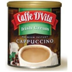 Caffe D'vita Caffe DVita F-DV-1C-06-IRIS-21 Irish Cream Cappuccino 6 1lb canisters