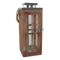 SONOMA Goods for Life™ Large Wooden Lantern, Silver