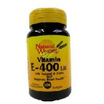 Natural Wealth Vitamin E SFGL 400 IU NAT NAT/WL Size: 100