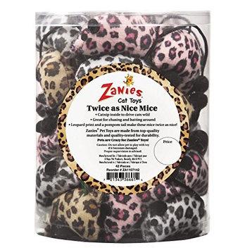 Petedge ZA11071 42 Zanies Twice as Nice Mice Canister 42 Pcs