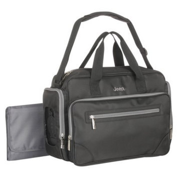 Poly Twill Duffle Diaper Bag - Black/Gray by Jeep