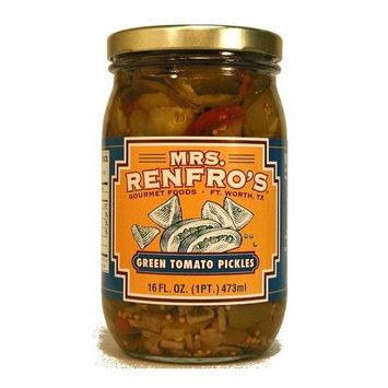 Mrs Renfro, Tomato Green Pckld, 16 OZ (Pack of 6)