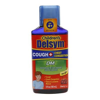 Delsym Children's Liquid Cough + Chest Congestion DM, Cherry, 6 fl oz