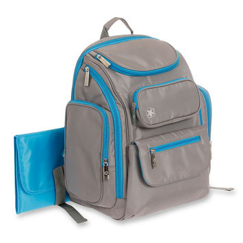 Jeep Places and Spaces Backpack Diaper Bag Grey/Blue
