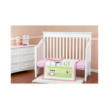 Dream On Me Baby Owl 2 Piece Reversible Full Size crib bedding set