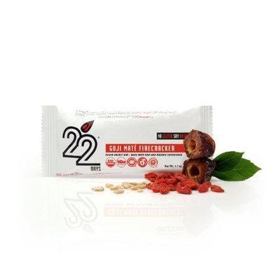 22 Days Nutrition 22 Days Bars, Goji Mate Firecracker, 50 Gram (Pack of 1)