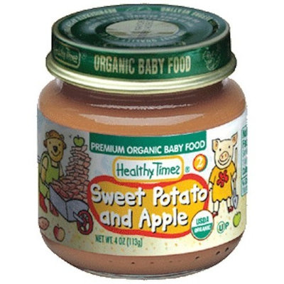 Healthy Times Organic Baby Food, Sweet Potato and Apple, 4-Ounce Jars (Pack of 12)