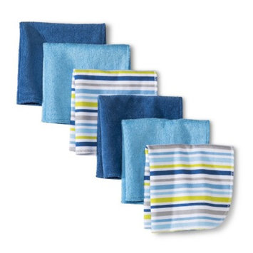 Circo Newborn Boys' 6 Pack Washcloth Set - Dark Blue