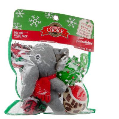 Grreat ChoiceA Pet HolidayTM Elephant 4-Pack Dog Toy