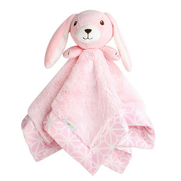 COCALO Pink Bunny Plush Security Blanket