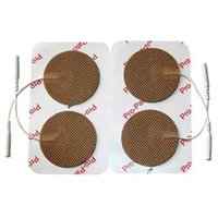 ProMed Specialties ProM-024 2 in. Round Tan Cloth Electrodes