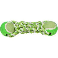 Mammoth Flossy Chews Braided Bone with 2 Mini, Balls, Mini, 7-1/2-Inch