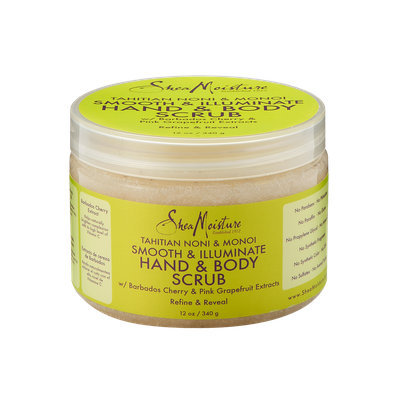 SheaMoisture Tahitian Noni & Monoi Dead Sea Salt Smooth & Illuminate Hand & Body Scrub