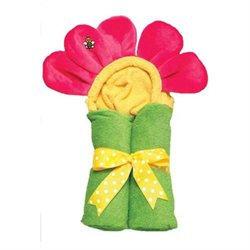 AM PM Kids Hot Pink Flower Tubbie Towel
