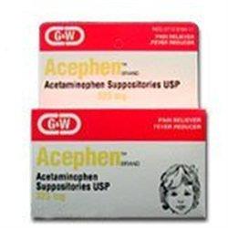 Acephen Acetaminophen Suppositories 325 Mg - 50 Ea