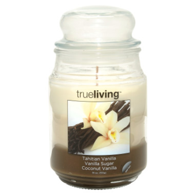 trueliving Tri-Scent Candle - Brown
