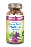 Nature's Herbs Grapeseed Power 100 100 mg - 30 Capsules