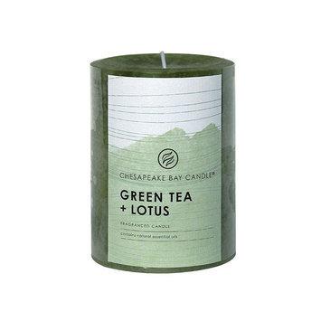 Chesapeake Bay Candle Green Tea & Lotus 4-in. Pillar Candle