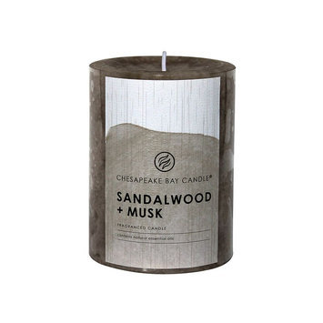 Chesapeake Bay Candle Sandalwood & Musk 4-in. Pillar Candle, Multi/None