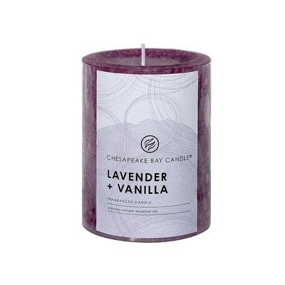 Chesapeake Bay Candle Lavender (Purple) & Vanilla 4-in. Pillar Candle