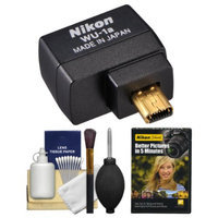 Nikon WU-1a Wireless Wi-Fi Mobile Adapter (for iPhone or Android) - Factory Refurbished with DVD + Cleaning Kit for Coolpix A, P520, P530, P7800, DF, D3200, D3300, D5200 & D7100
