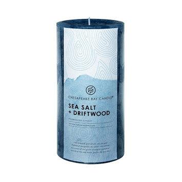 Chesapeake Bay Candle Sea Salt (Blue) & Driftwood 6-in. Pillar Candle