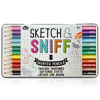 Natural Products Sketch and Sniff Pencils, Pack of 12