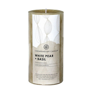 Chesapeake Bay Candle White Pear & Basil 6-in. Pillar Candle