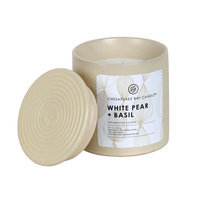 Chesapeake Bay Candle 8.9-oz. White Pear & Basil Ceramic Jar Candle