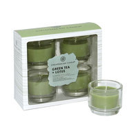 Chesapeake Bay Candle 4-piece Green Tea & Lotus Votive Candle Set