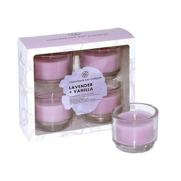 Chesapeake Bay Candle 4-piece Lavender (Purple) & Vanilla Votive Candle Set