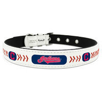 Mlb - Cleveland Indians Cleveland Indians GameWear™ Classic Leather Baseball Pet Collar