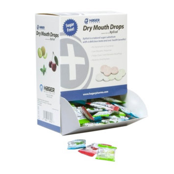 Hager Pharma Dry Mouth Drops with Xylitol, Assorted Pack, 156 ea