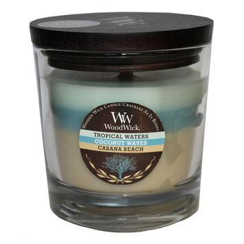 WoodWick Tri-Tone Tropical Waters 10.5-oz. Jar Candle, Cabana
