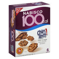 100 Calorie Chips Ahoy! Thin Crisps Baked Chocolate Chip Snacks 6 pk