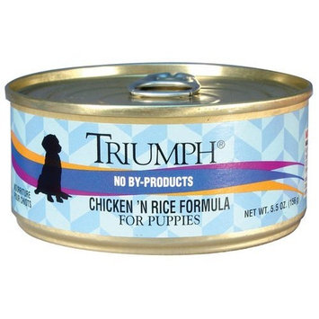 Triumph Puppy Chicken Canned Dog Food, Case of 24, 5.5 oz.