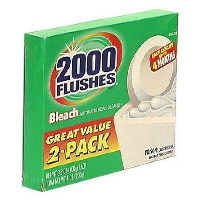 2000 Flushes Chlorine Clear Tablet Automatic Bowl Cleaner, Twin Pack3.5 oz (100 g) (Pack of 3)