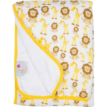 Miracle Industries MiracleWare Giraffes and Lions Muslin Serenity Blanket