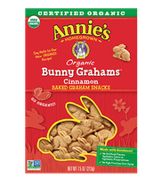Annie's® Homegrown  Bunny Grahams  Cinnamon Whole Grain Graham Snacks