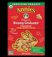 Annie's® Homegrown  Bunny Grahams  Cinnamon Whole Grain Graham Snacks
