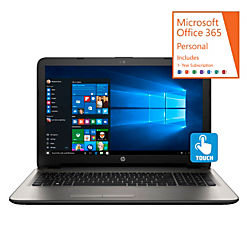 HP 15-af152nr Laptop Computer With 15.6in. Touch Screen AMD A8 Quad-Core Processor, Windows(R) 10