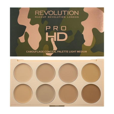 MAKEUP REVOLUTION Ultra HD Camouflage Conceal Palette Light Medium