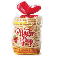 Kim's Magic Pop Strawberry Flavor 12-Pack: Freshly Popped Rice Cakes, Healthy Grain Snack, 0 Weight Watchers Point
