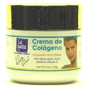 La Bella Crema De Colageno Face Cream 4 oz. Jar (3-Pack) with Free Nail File